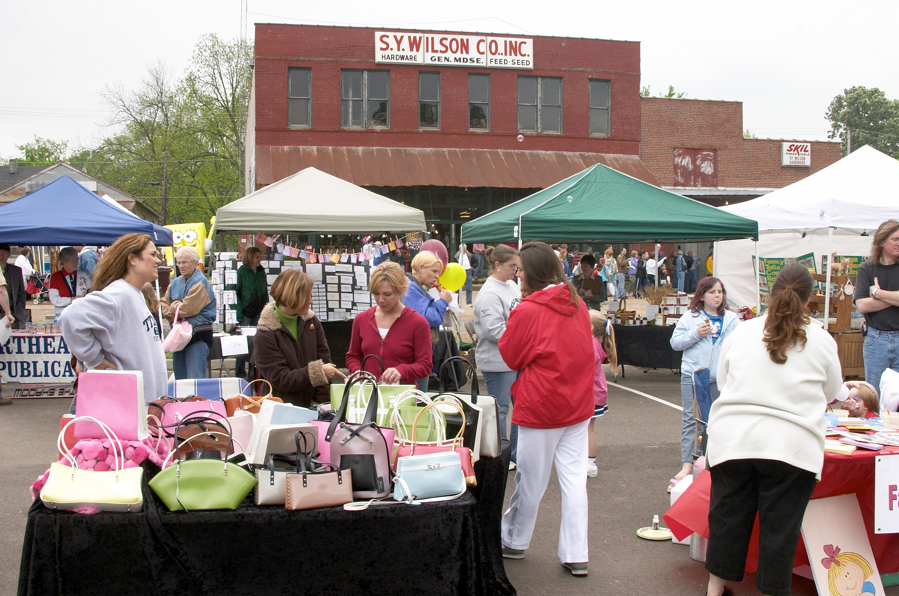 Crafts and More in the Square, Arlington in April, credit JB-Folder 5